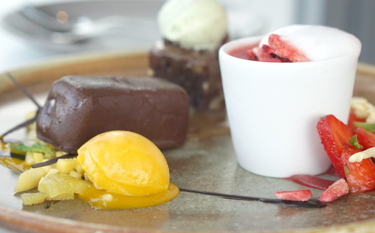 Dessert at Harvey Nick's Manchester