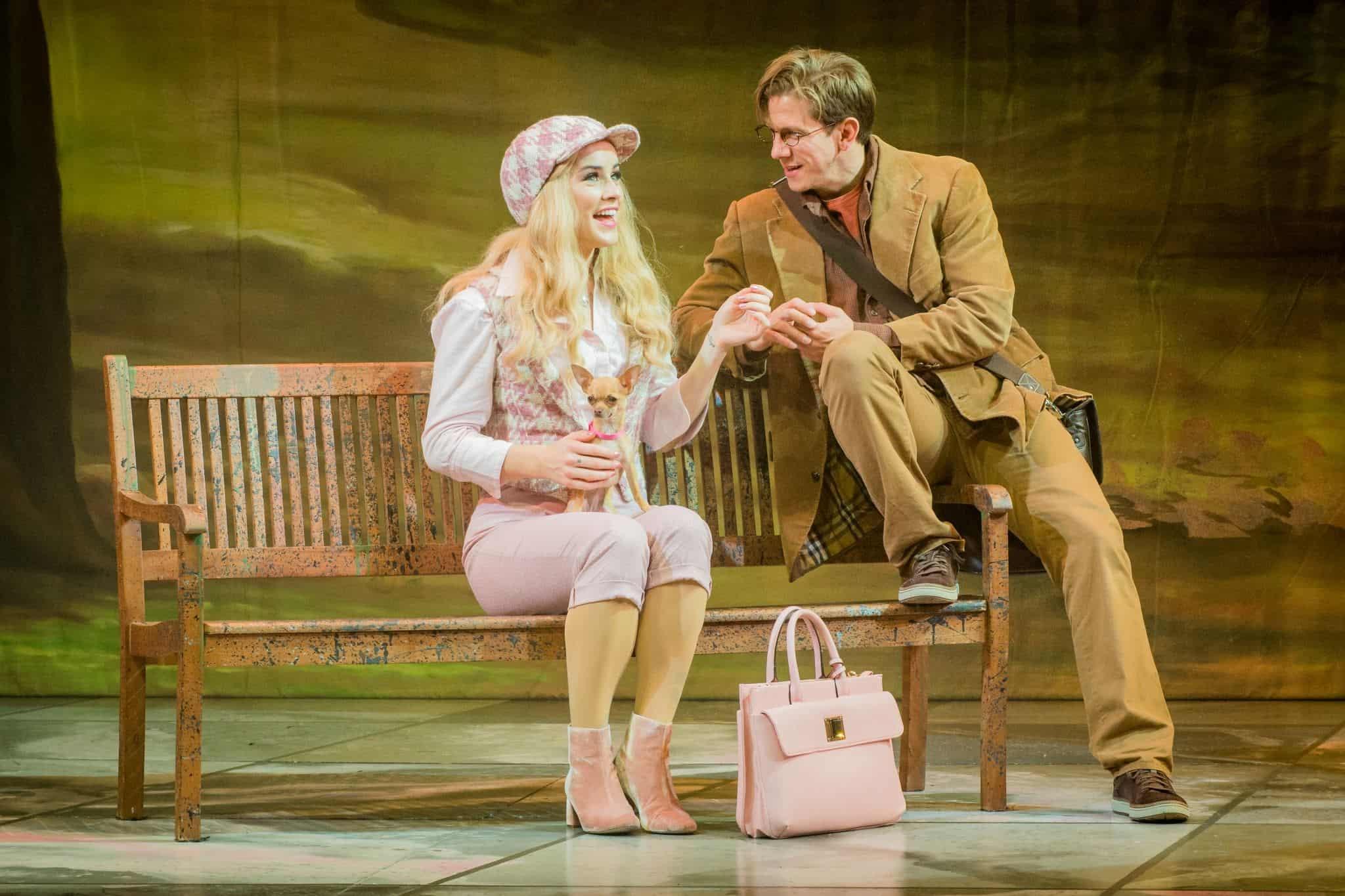 Legally Blonde Lucie Jones, David Barrett Photo Robert Workman