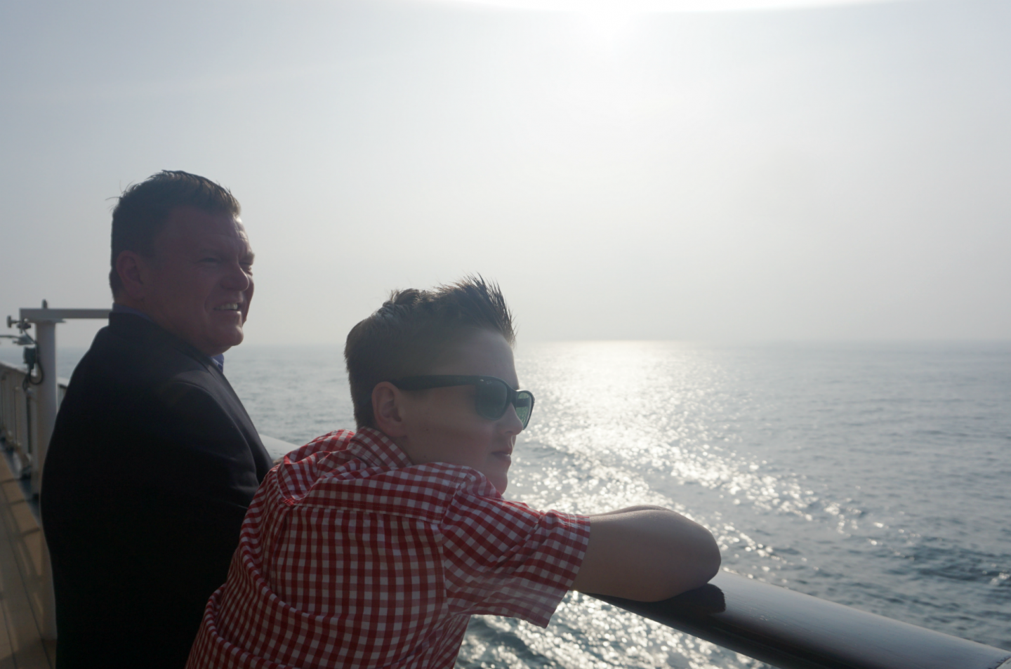 Looking Out To Sea Onboard The Celebrity Silouete