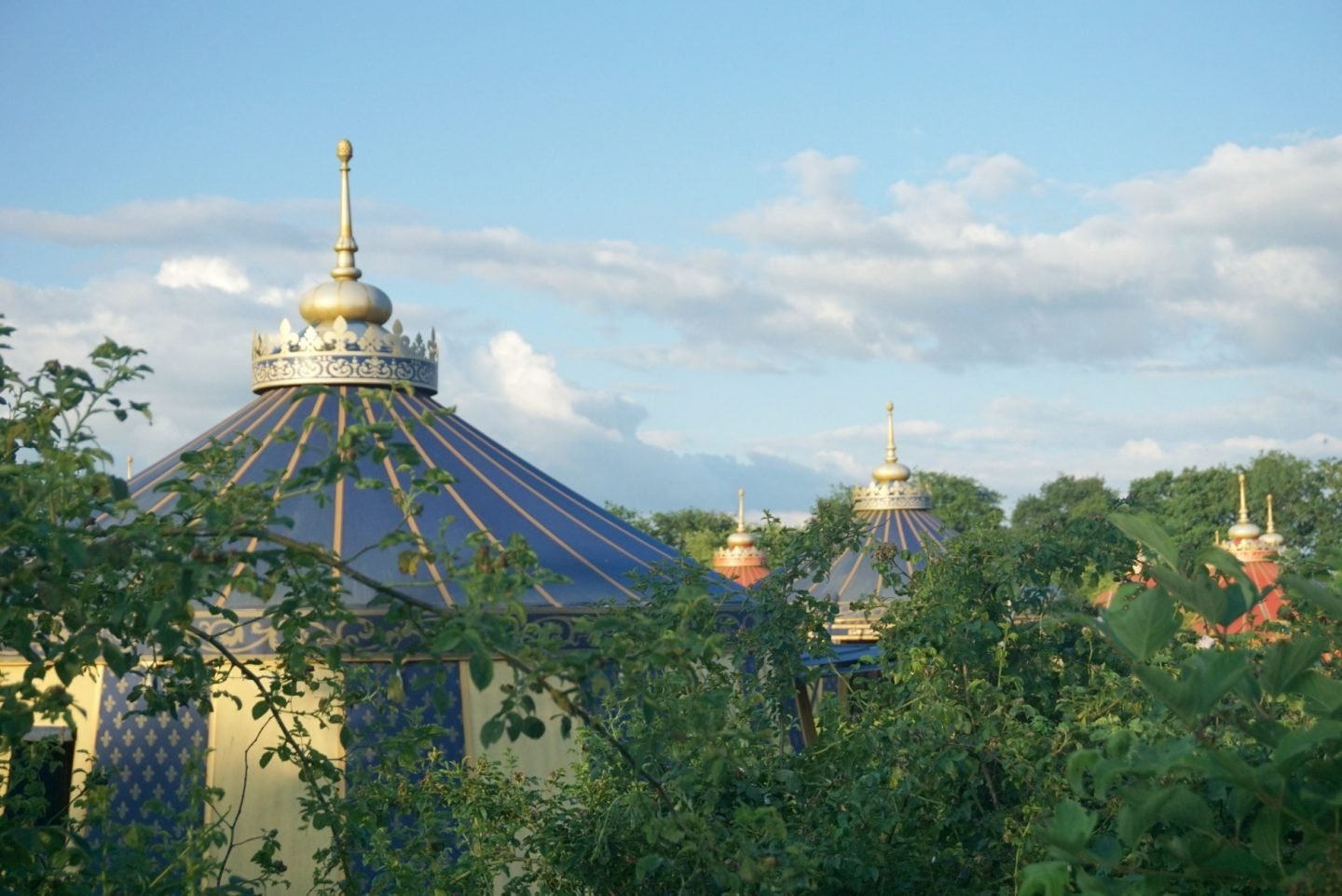 Sleeping in a Knights Tent style room at Le Camp Du Drap D'Or at Puy Du Fou