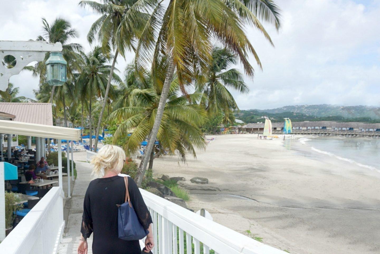 Overlooking the beach at Elite Island Resort
