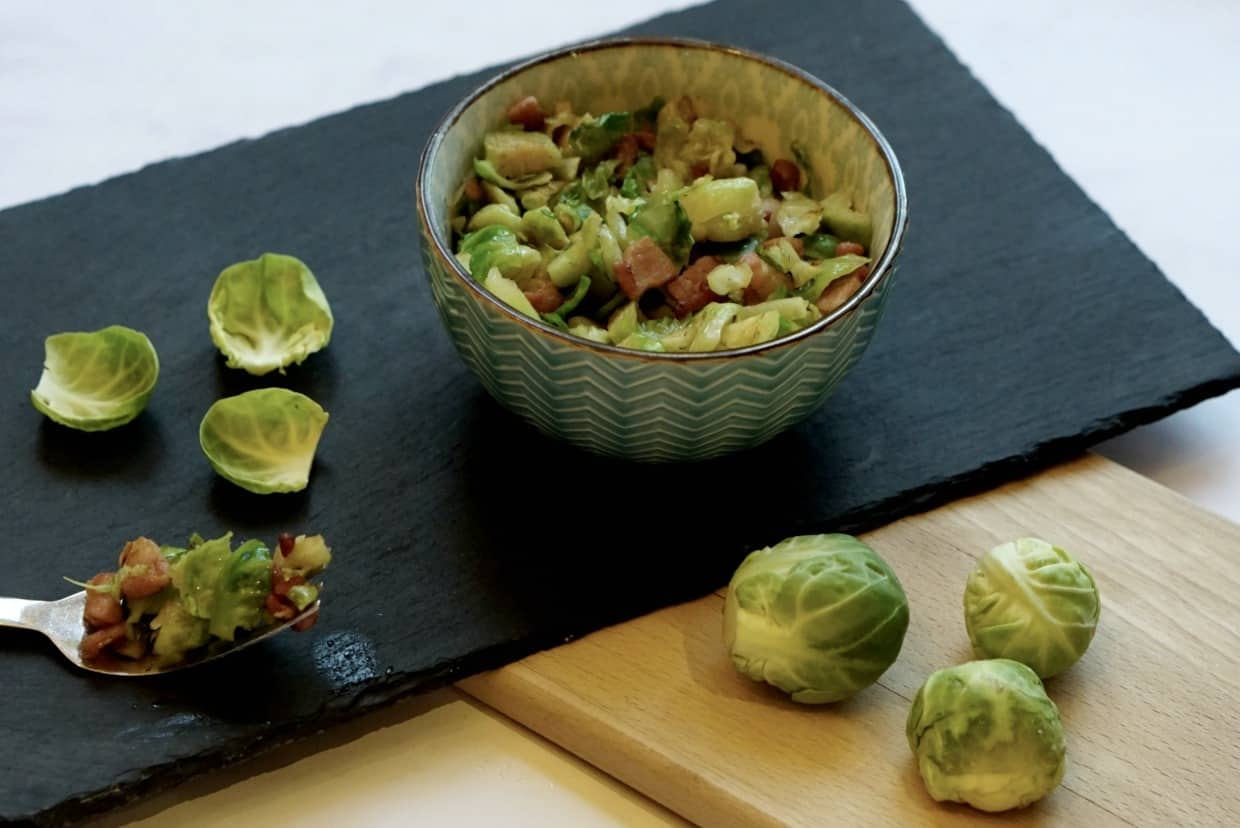 Recipe for Brussel sprouts with bacon, the perfect Vegetables for Christmas Dinner