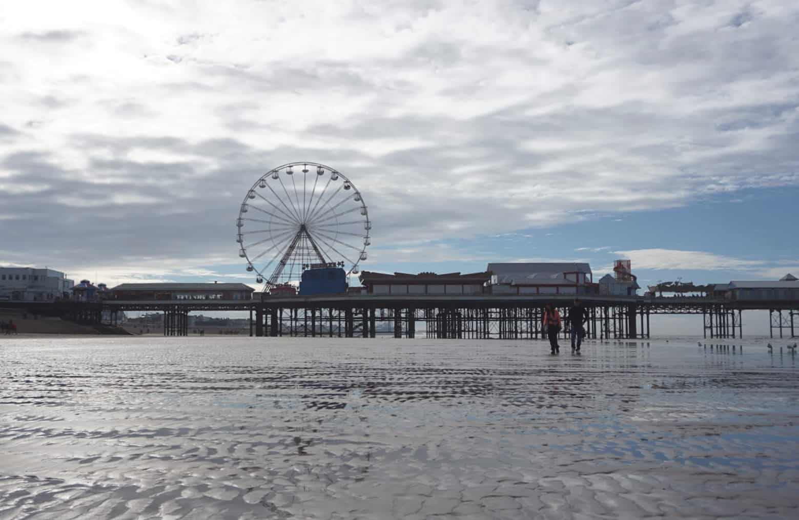A view on the beach in Blackpool