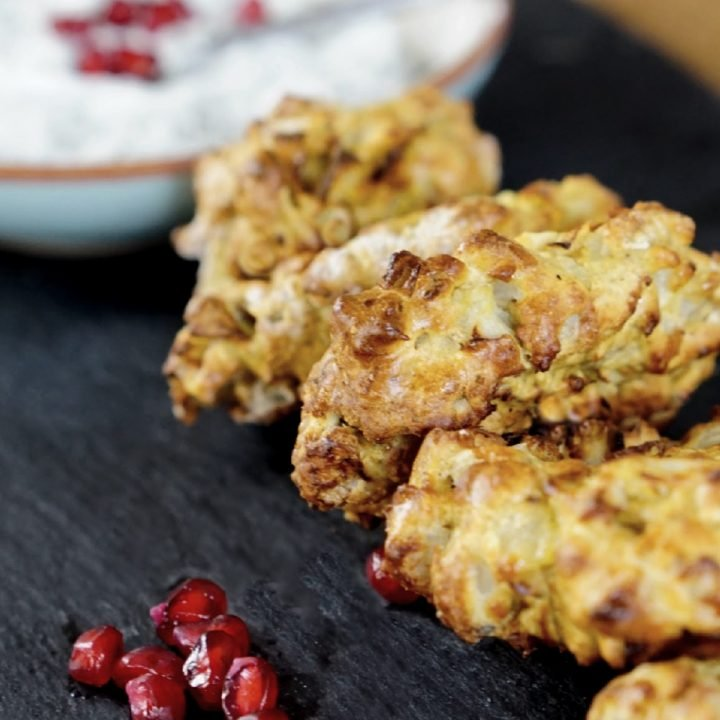 Air Fryer Onion Bhajis and easy quick recipe