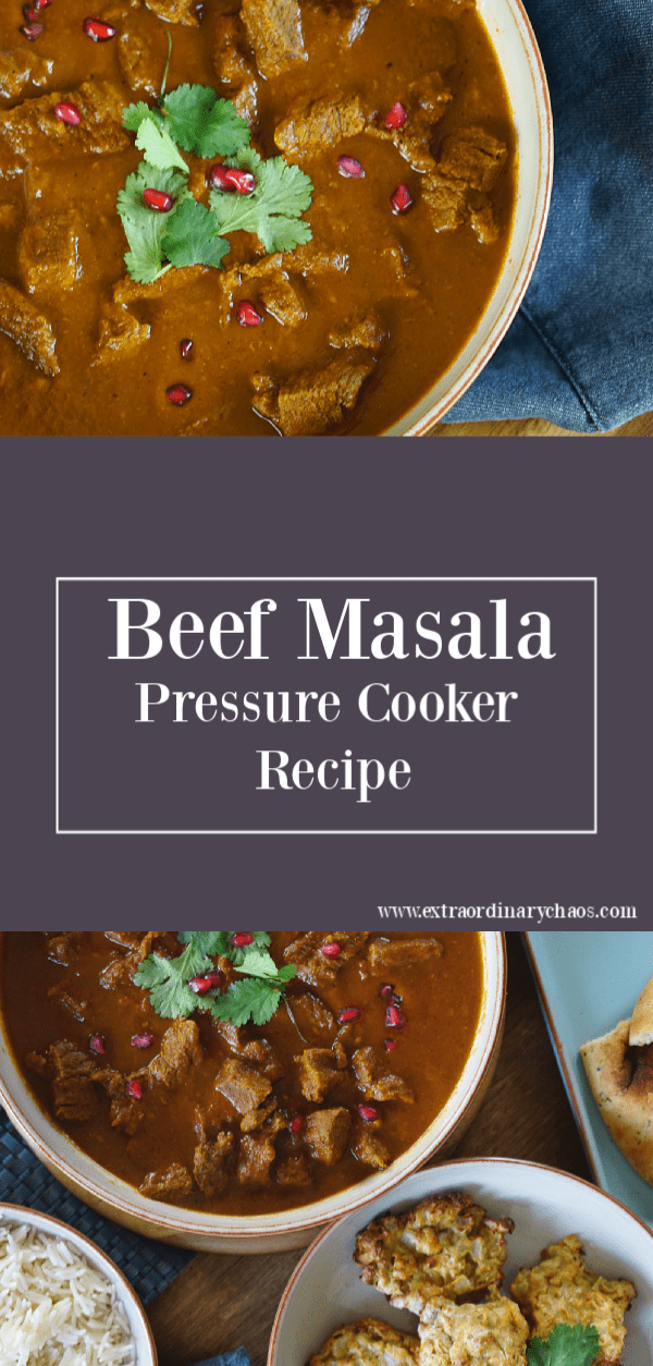 Beef Masala Pressure Cooker Recipe perfect for easy midweek meals