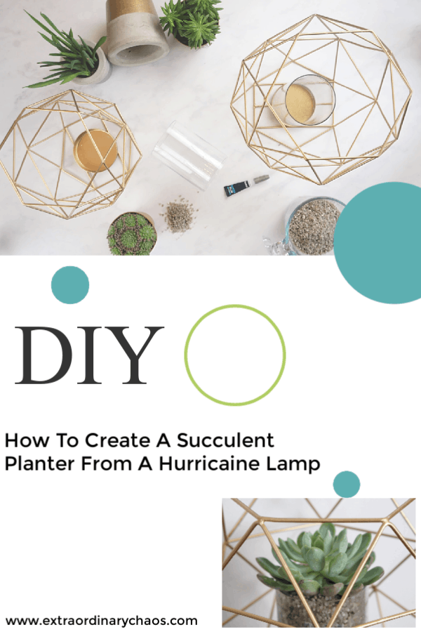 HOW TO Create A Succulent Planter From A Hurricane Lamp
