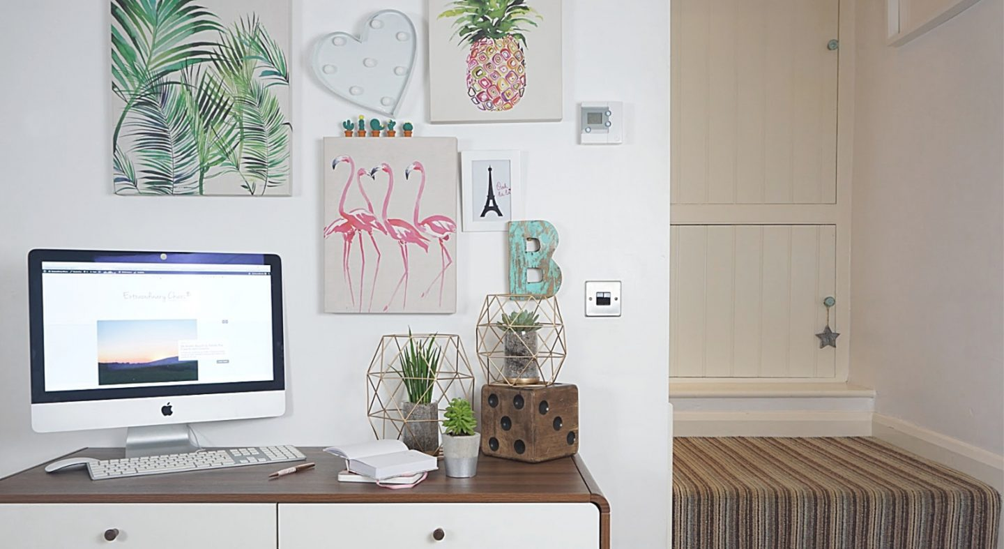Home office in a small space