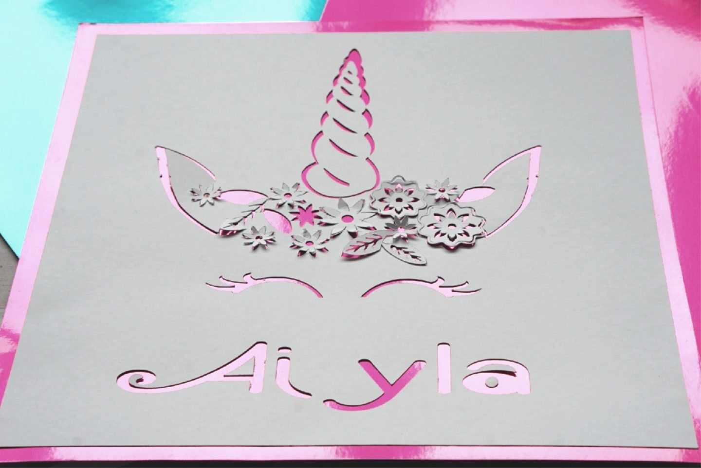 Making a Unicorn picrture Paper Cut With The Cricut Machine www.extraordinarychaos.com