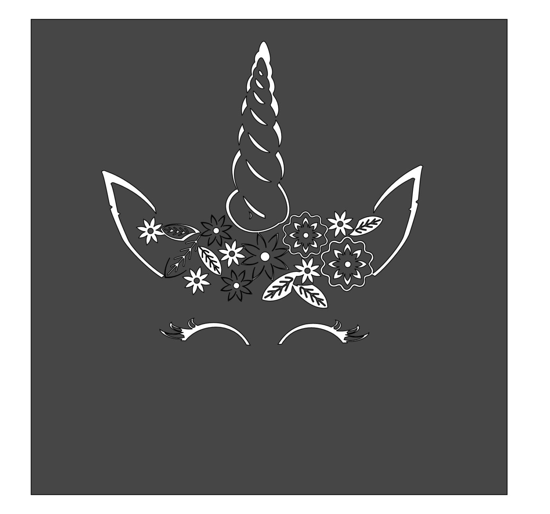 Free Unicorn Papercut Template