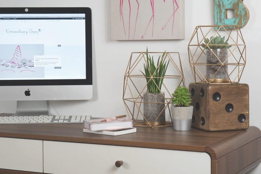 Styling my desk with Ivy Line