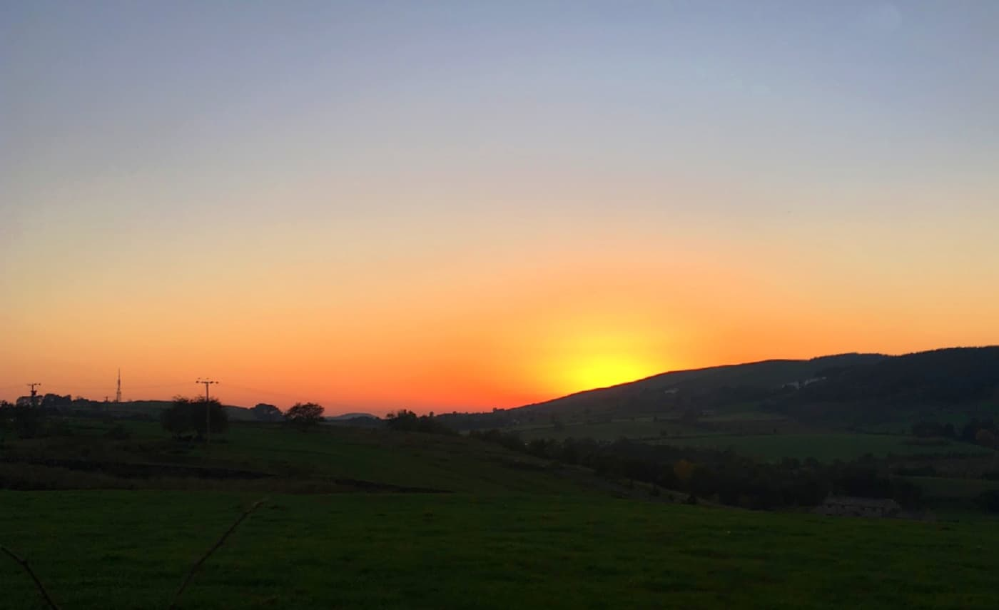 Sunset over Newchurch