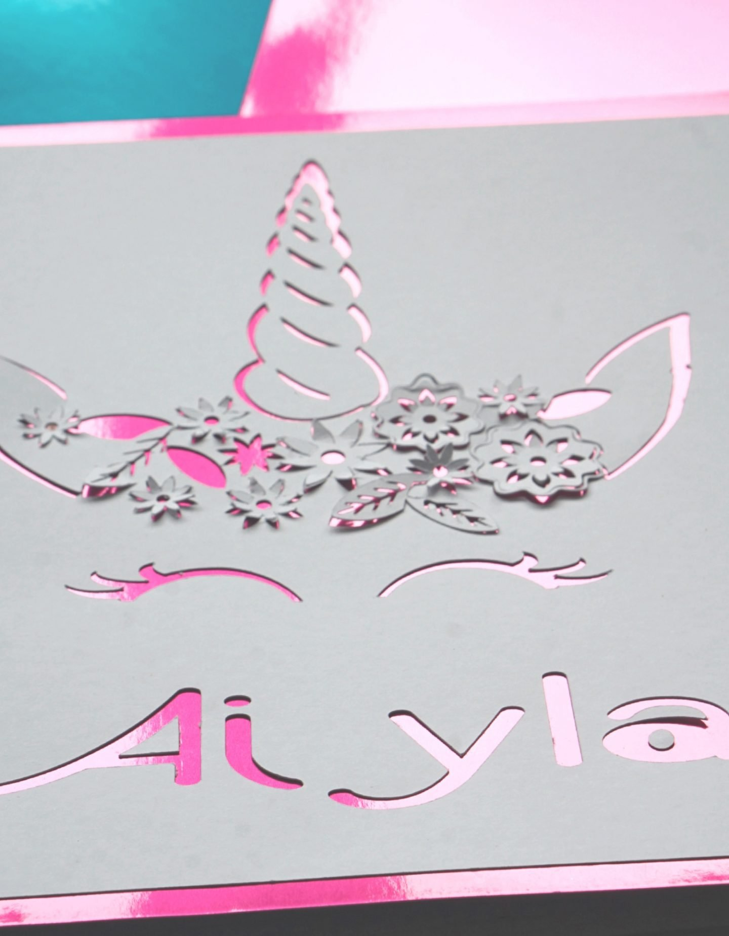 Tutorial for a Unicorn Paper Cut With The Cricut Machine www.extraordinarychaos.com