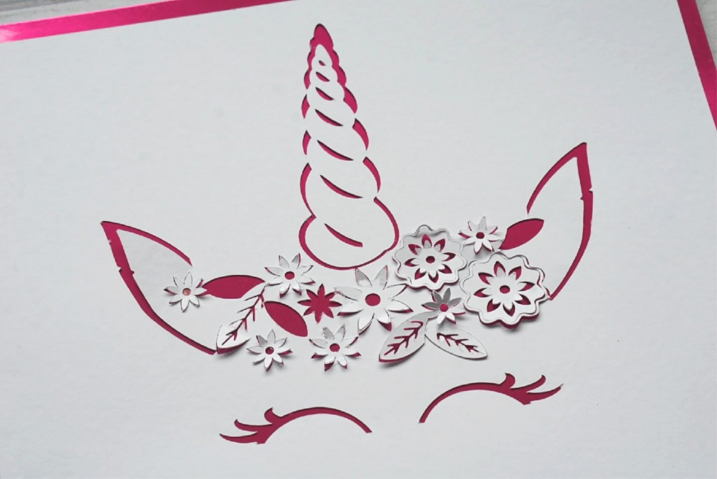 Unicorn Paper Cut With The Cricut Machine www.extraordinarychaos.com