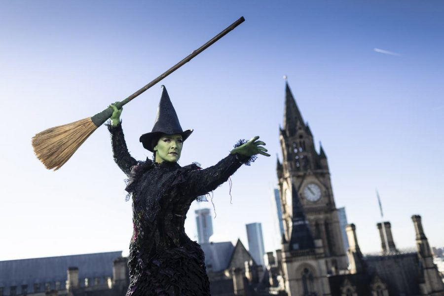 Elphaba casts her spell over Manchester to celebrate Halloween and return of WICKED to the Palace Theatre. Photo Phil Tragen (2) (1)