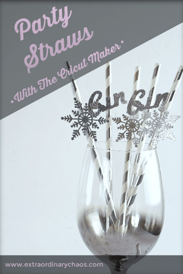 How to make party straws with the Cricut Maker