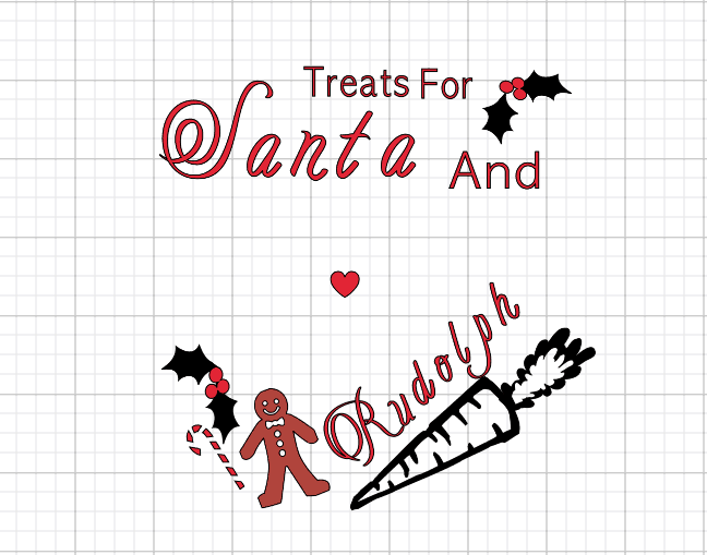 Treats for Santa plate template