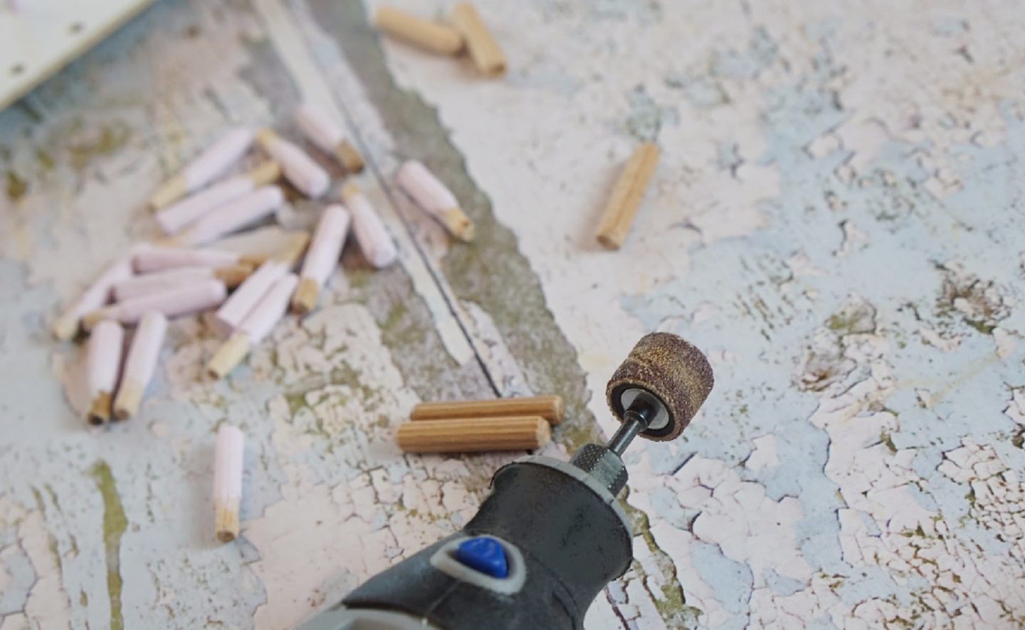 Using the Dremel Multi tool to make a craft cupboard