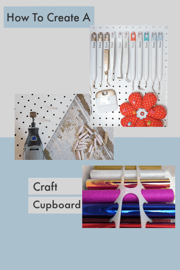 How to create a craft cupboard with pegboard and a dremmel multi tool