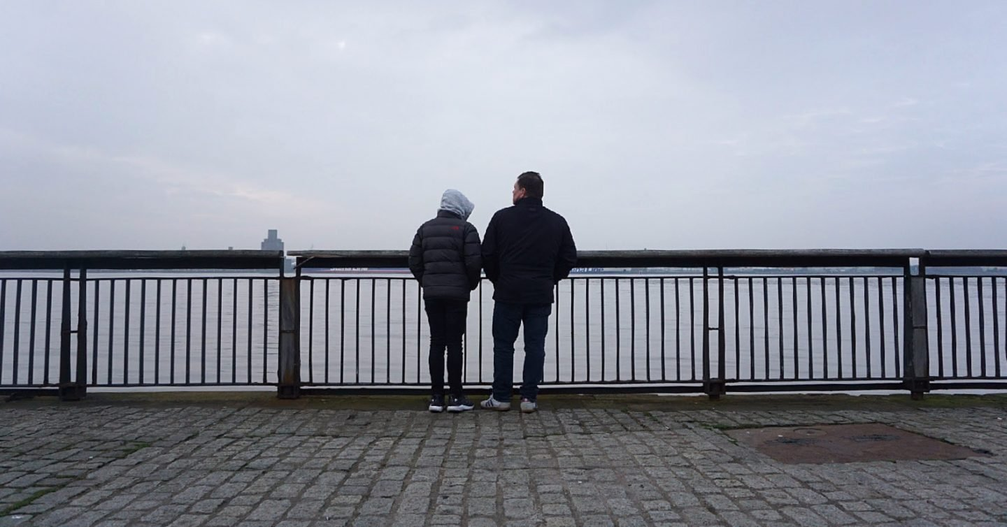 Overlooking Liverpool Waterfront