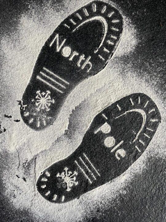 Santa footprint SVG
