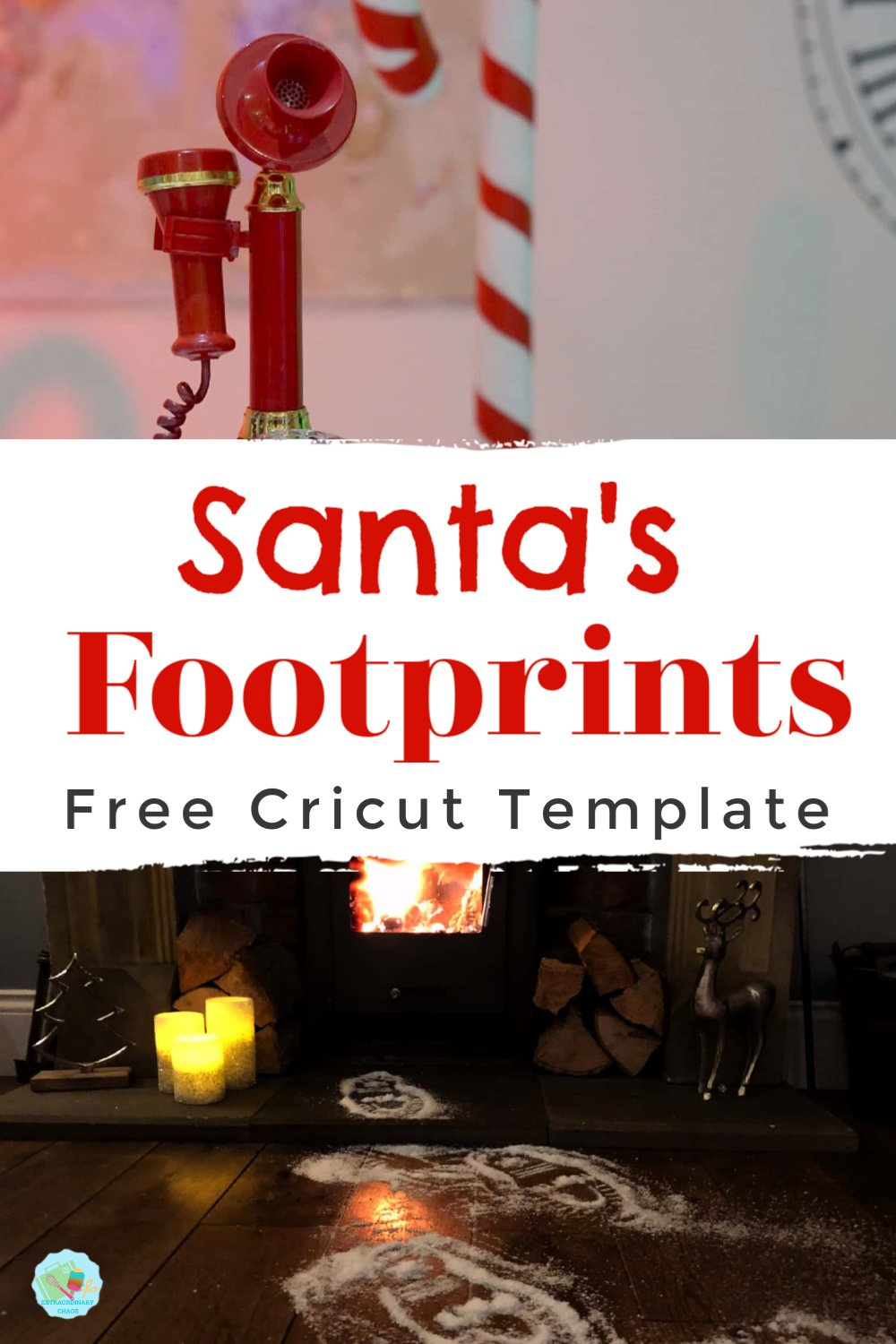 Santas Footprints Free Cricut Template