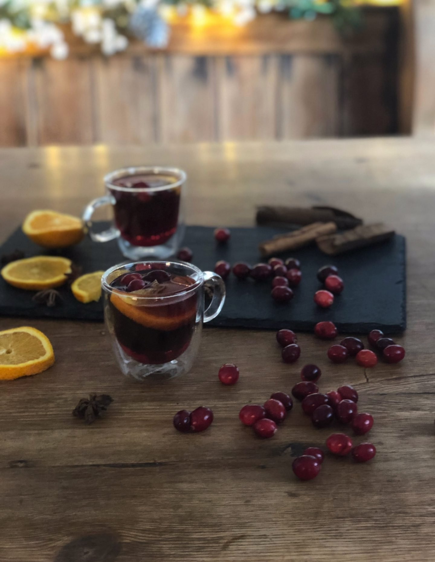 Slow Cooker Festive Mulled Sloe Gin made from Batch Whinberry Gin