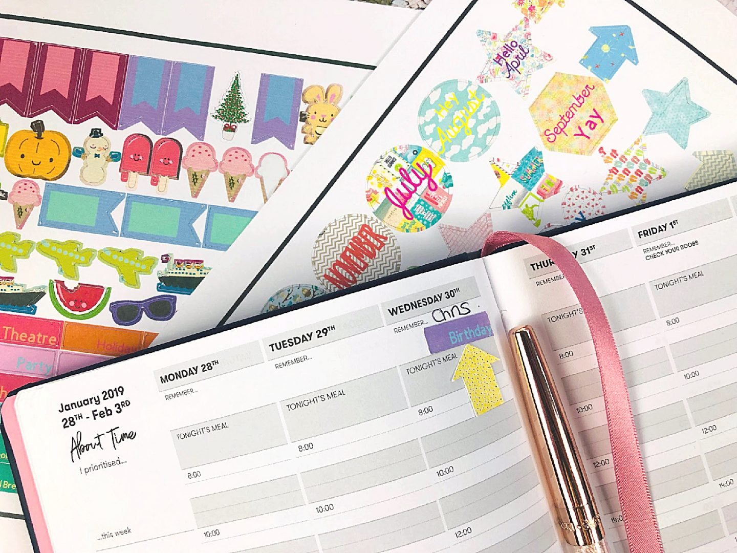 Downloadable planner stickers