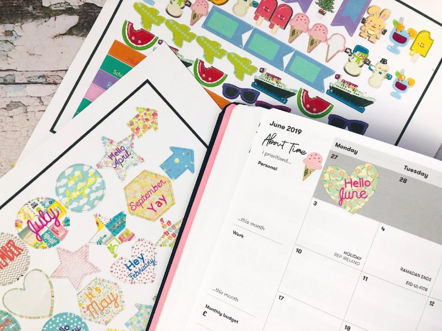Free planner sticker template