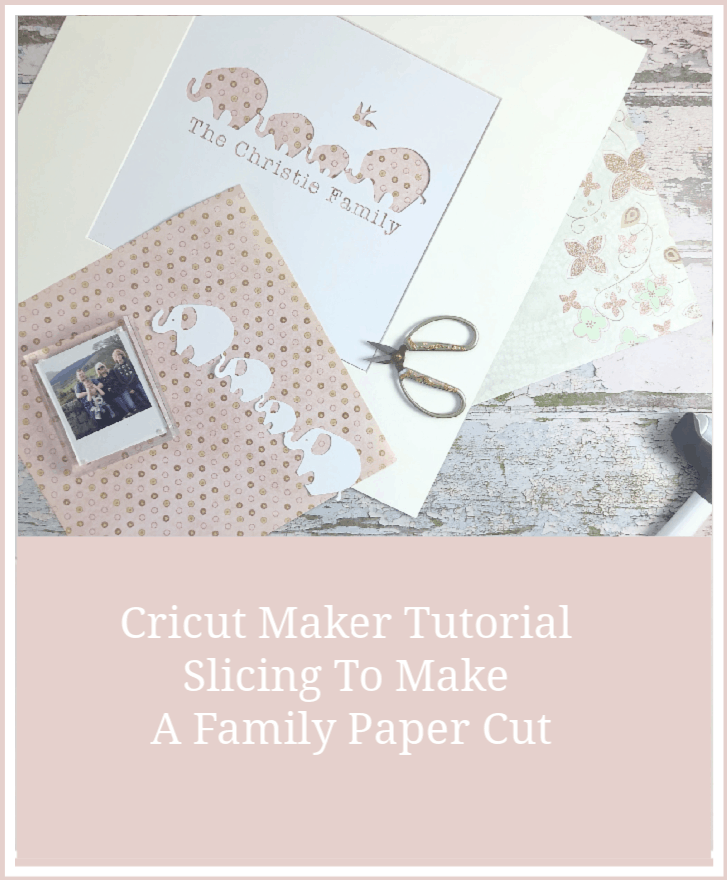 Making A Family Paper Cut With The Cricut Maker, a quick and easy slicing and welding in the Cricut Dessign Space Tutorial perfect for beginners.