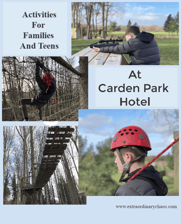 Activities for Teenagers at Carden Park including Kong Ropes, Shooting Lessons, Archery and the Zip Wire
