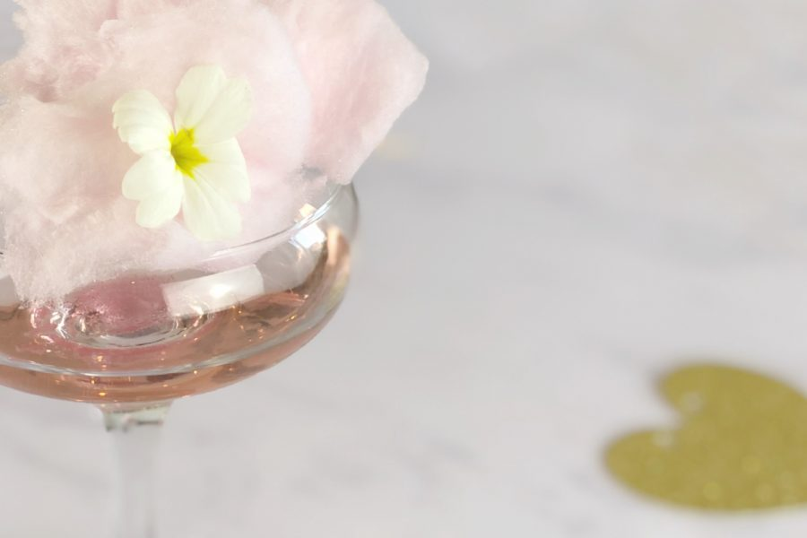 Candy Floss, Champagne and Gin Cocktail