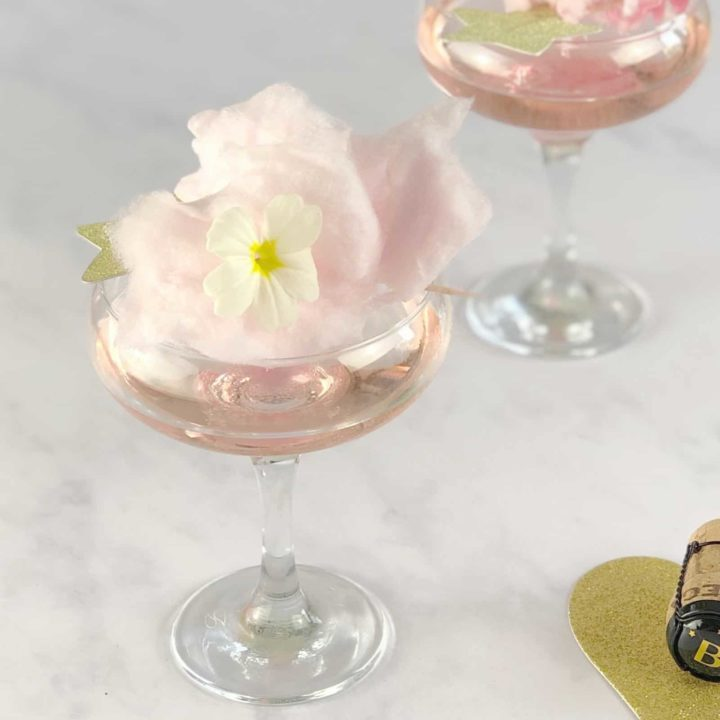 Champagne and Candyfloss Cocktail