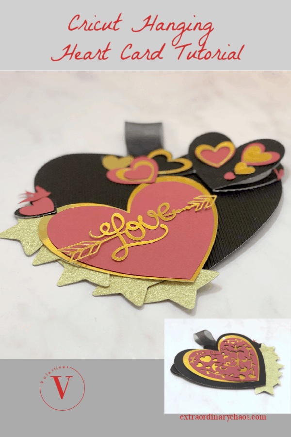Cricut Hanging Valentines Day Card Tutorial
