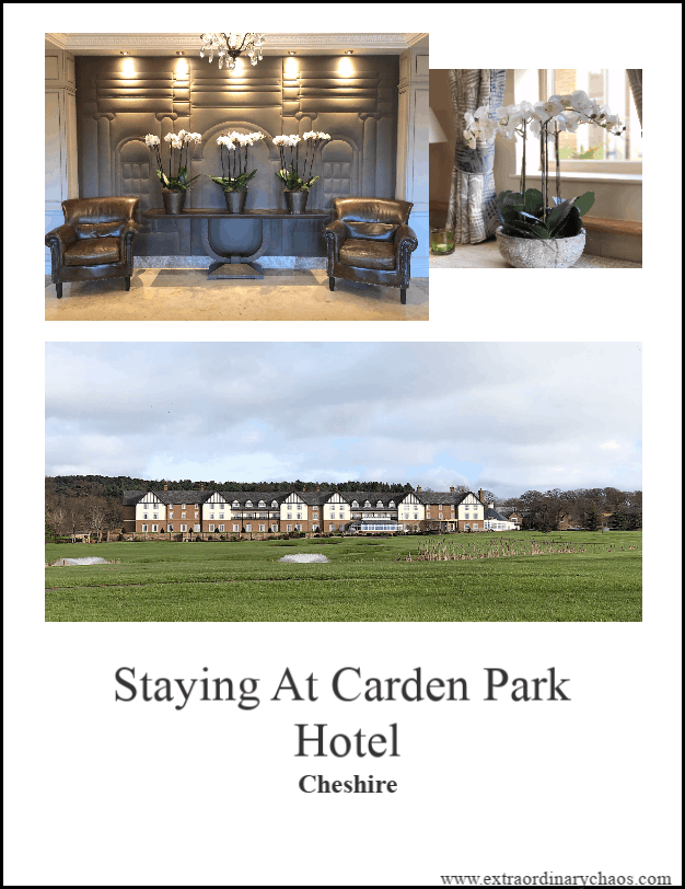 Staying At Carden Park Country Hotel in Cheshire and what to expect including the dining, facilities and rooms.