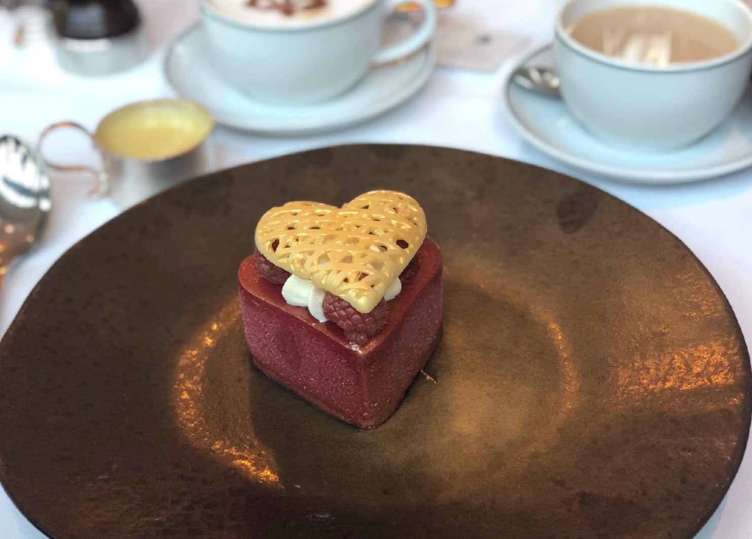 The valentines dessert at the Ivy Manchester