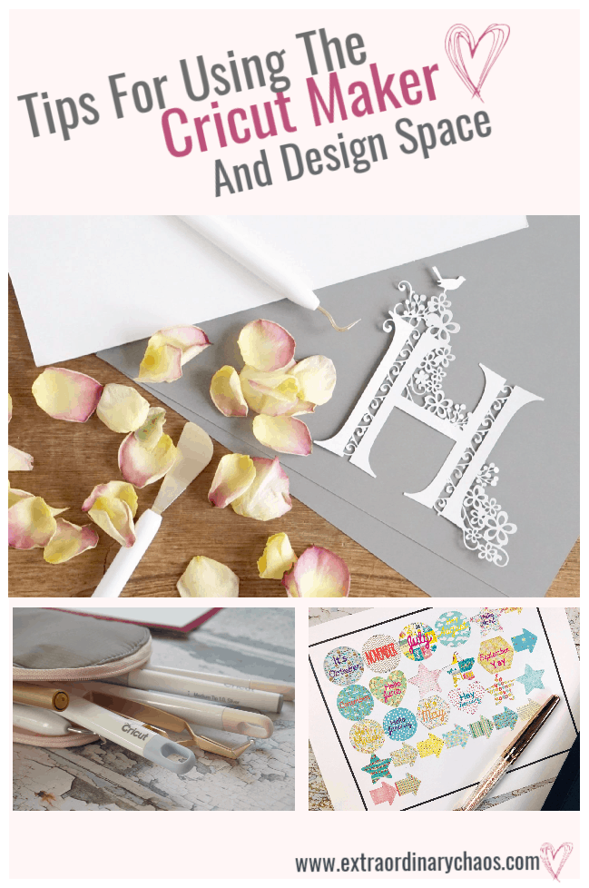 Tips for unsing the Cricut Design Space For beginners