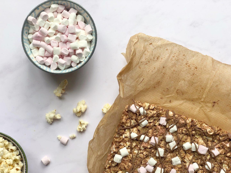 Rocky Road Popcorn bars recipe