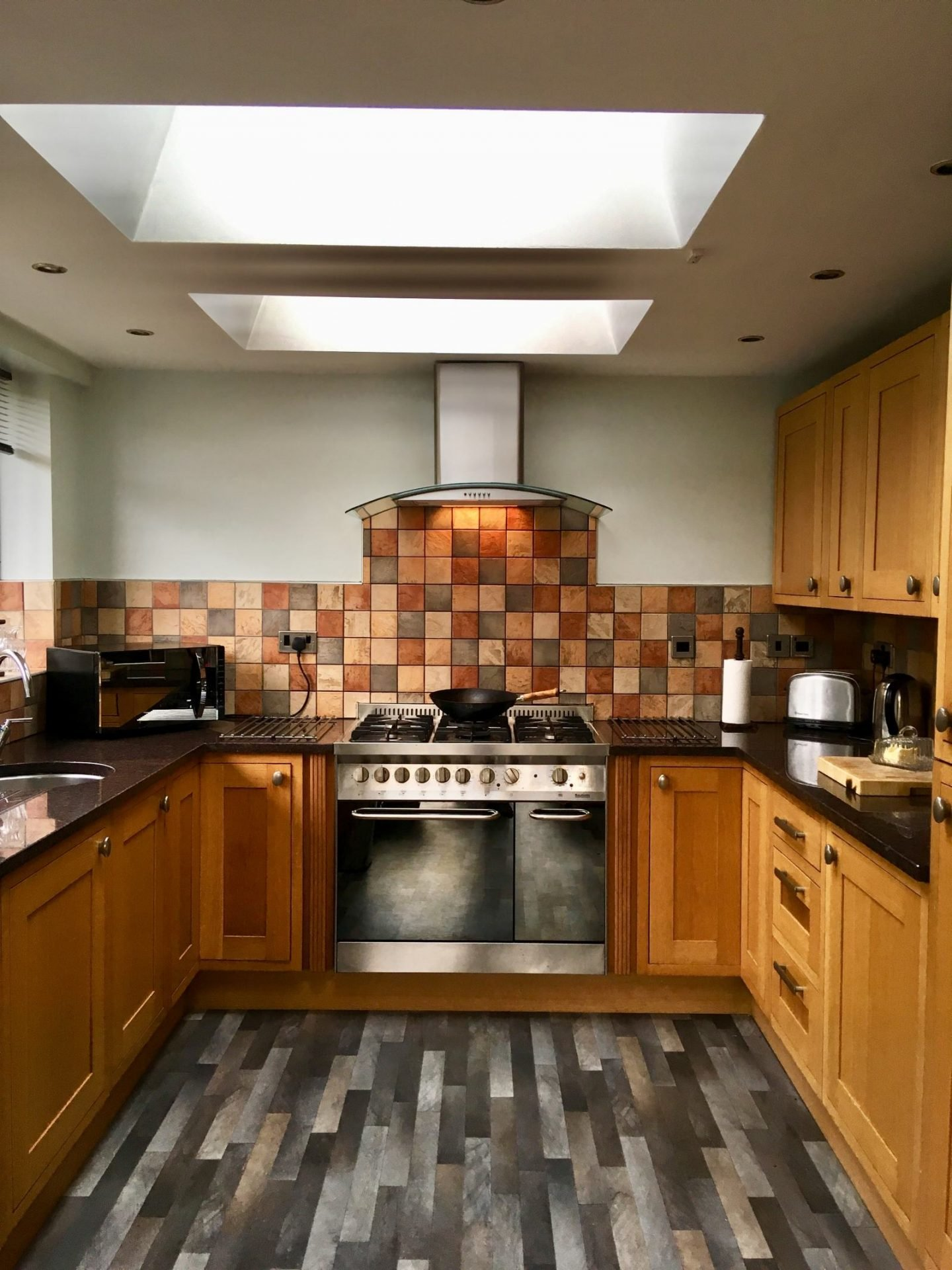 Creating light in a dark kitchen with VELUX Roof windows