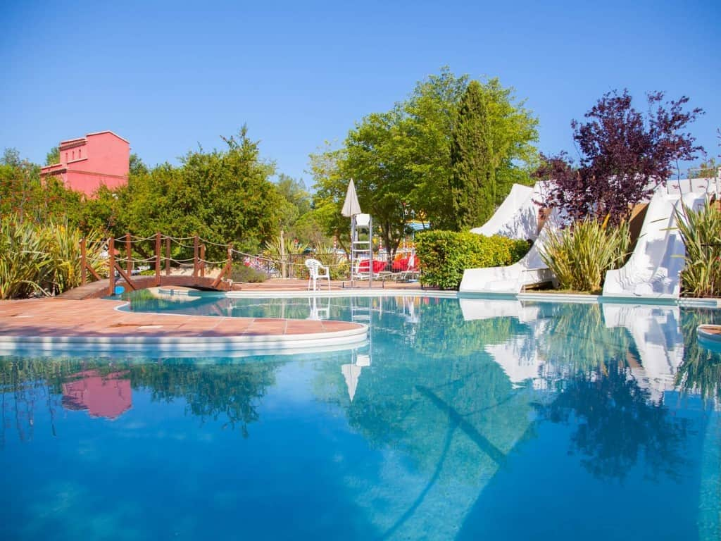 Luxury pool areas glamping in France