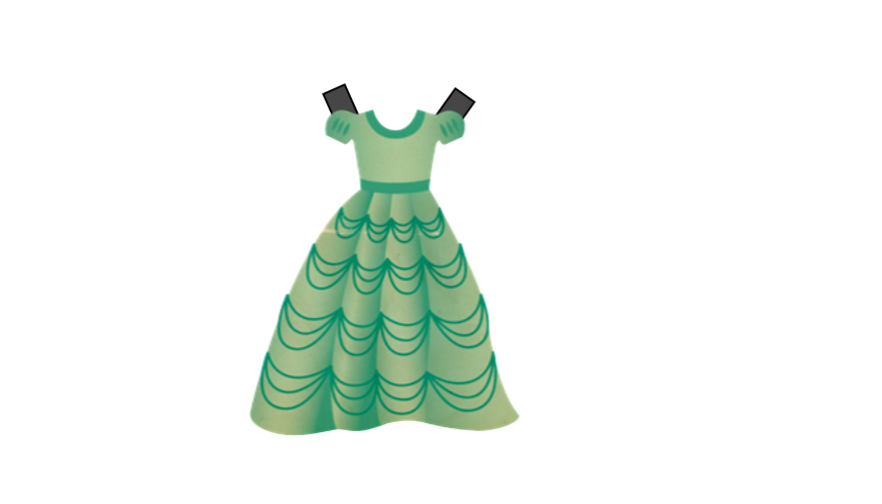 Add tags to dress to use as a paper cut put doll for your free dress up dolls template to cut out
