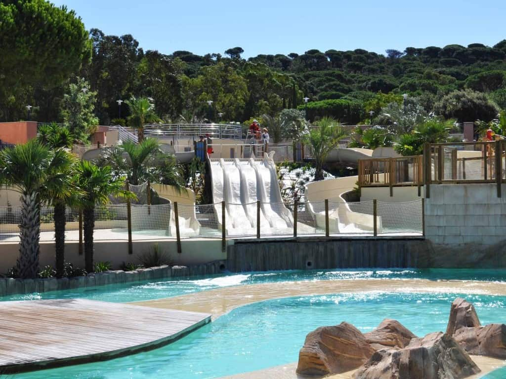 Water park and luxury camping