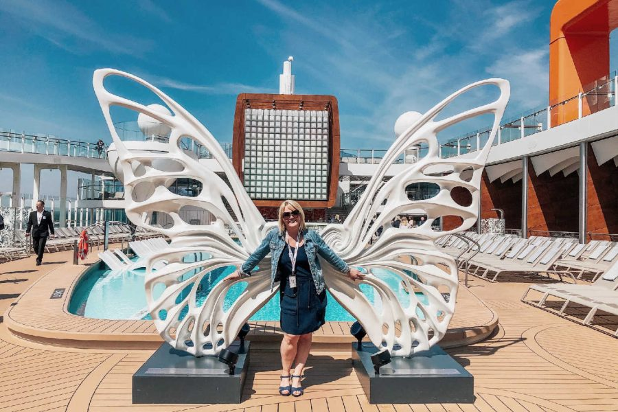 Butterfly on the Celebrity Edge