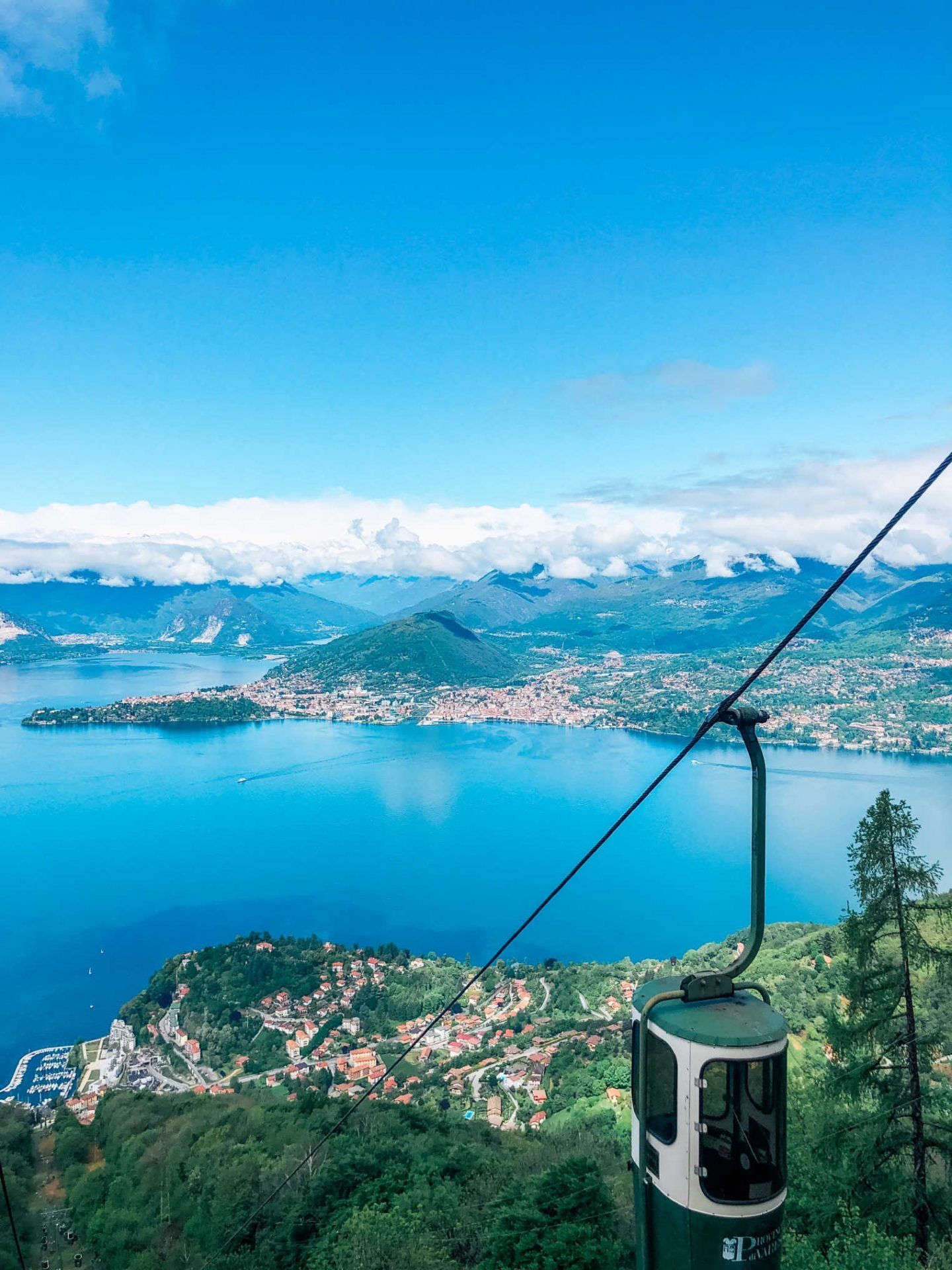 Go Up A Mountain In A Bucket In Laveno
