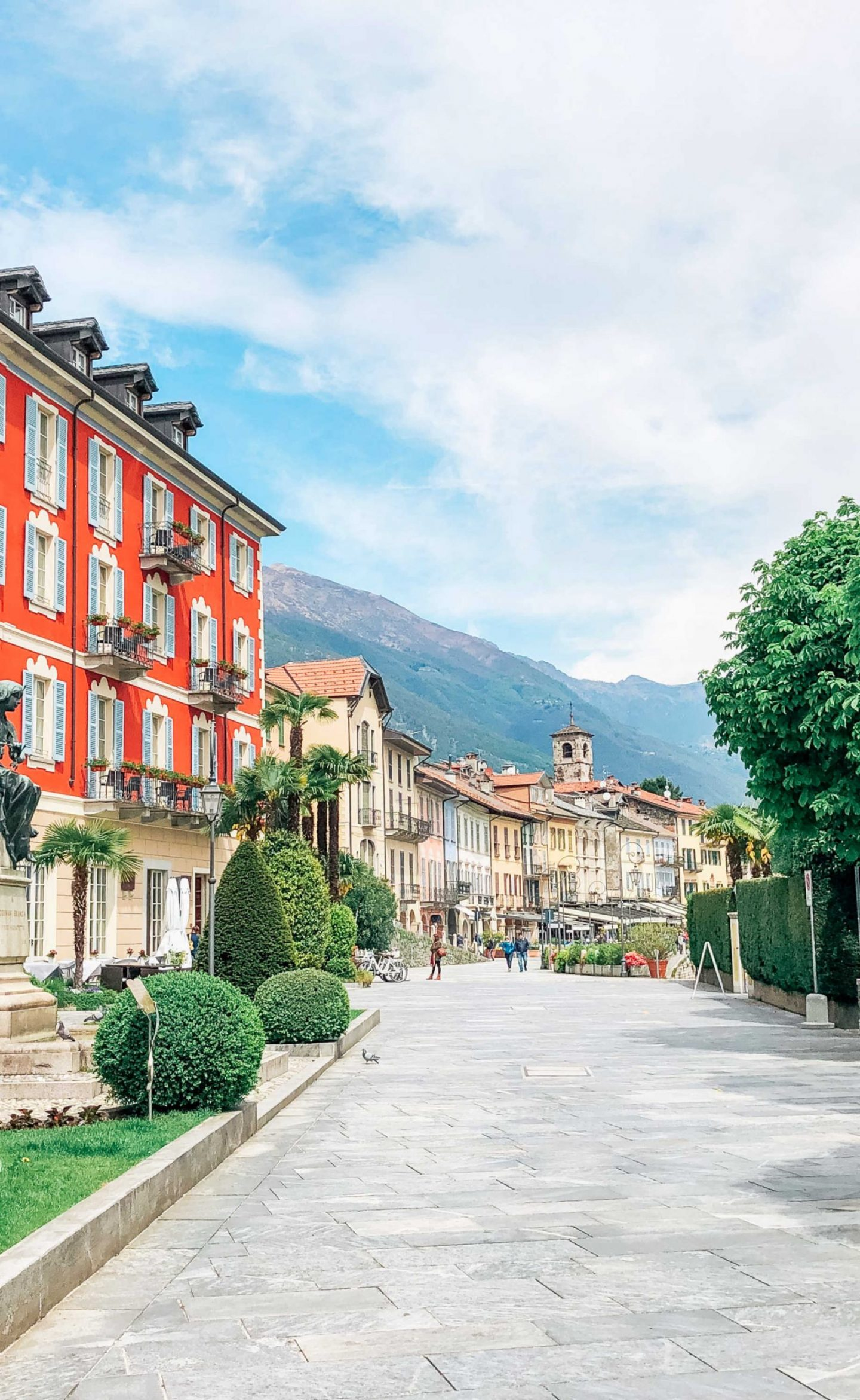 The pastel streets of Cannobio On Lake Maggiore Italy