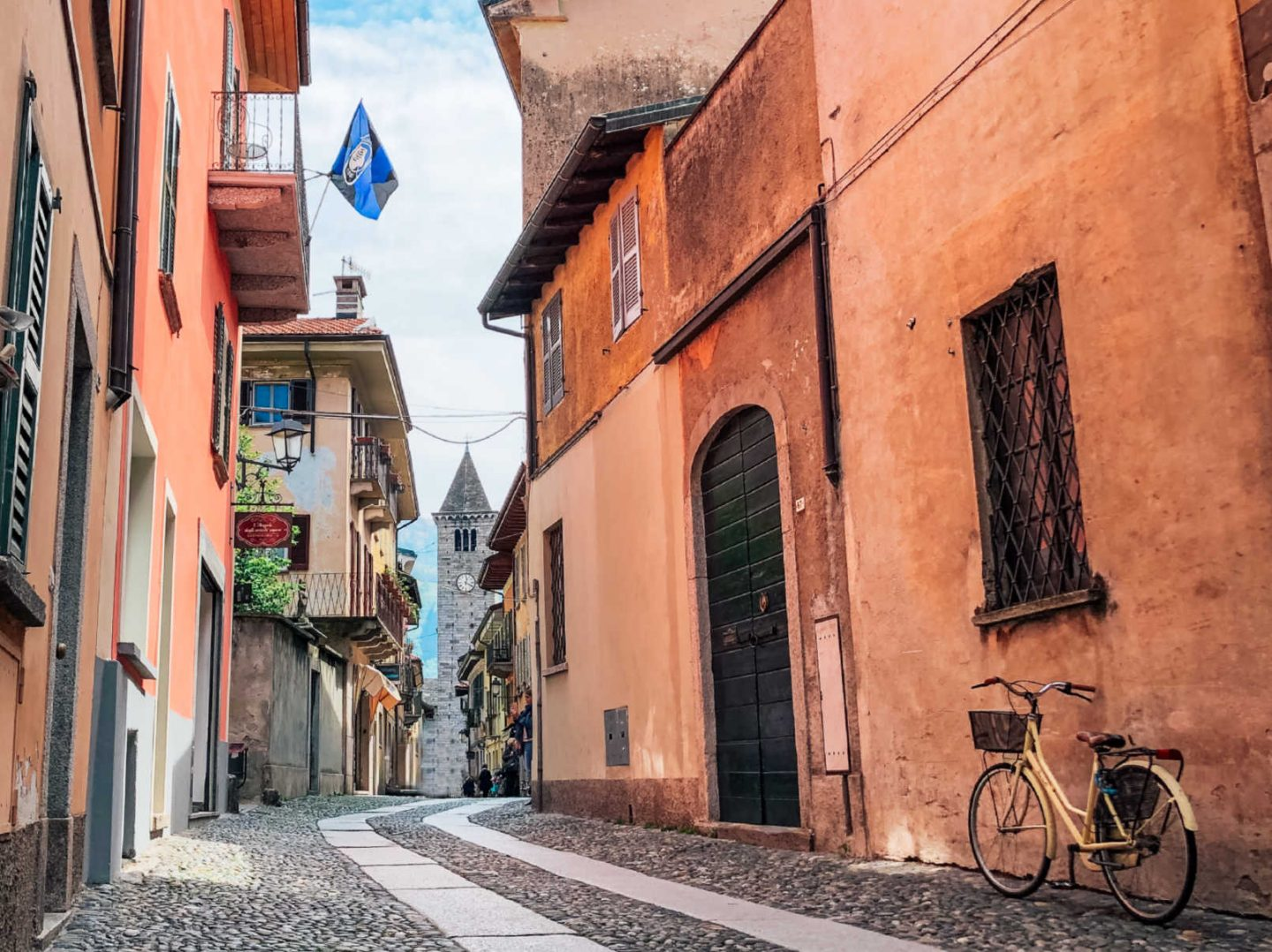 Winding Streets in the Italian Lakes of Cannobio On Lake Maggiore