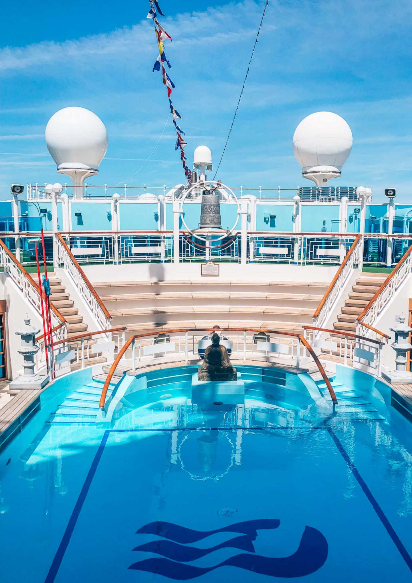 Adults pool on the Crown Princess