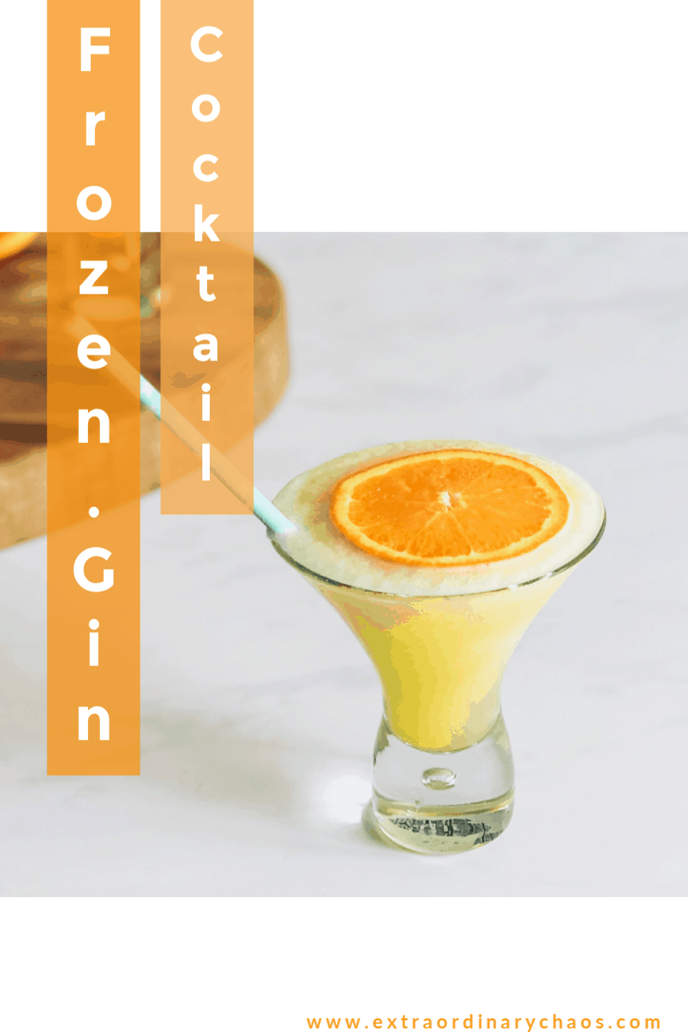 Frozen gin and orange cocktail recipe