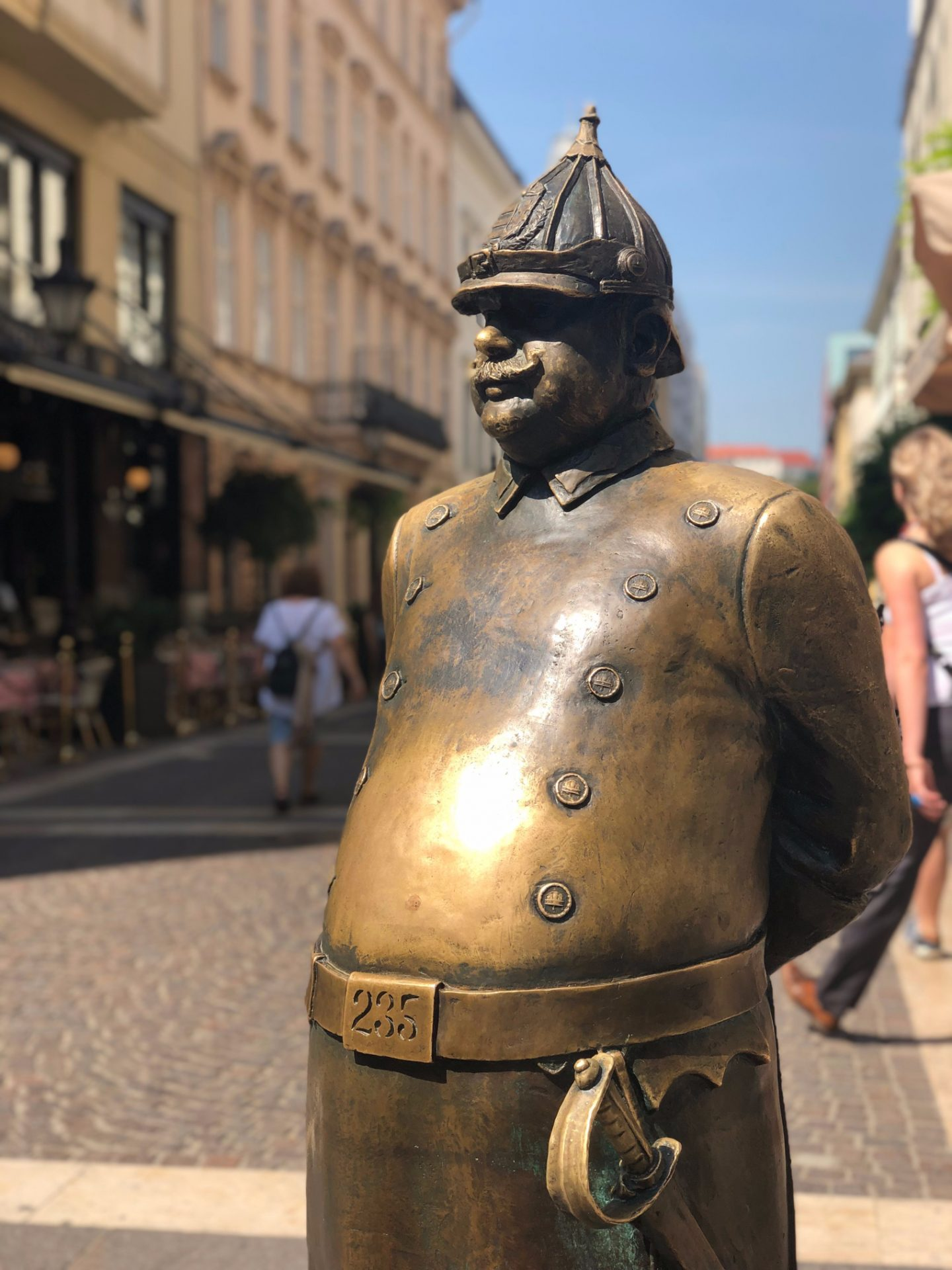 Fat Policeman in Budapest