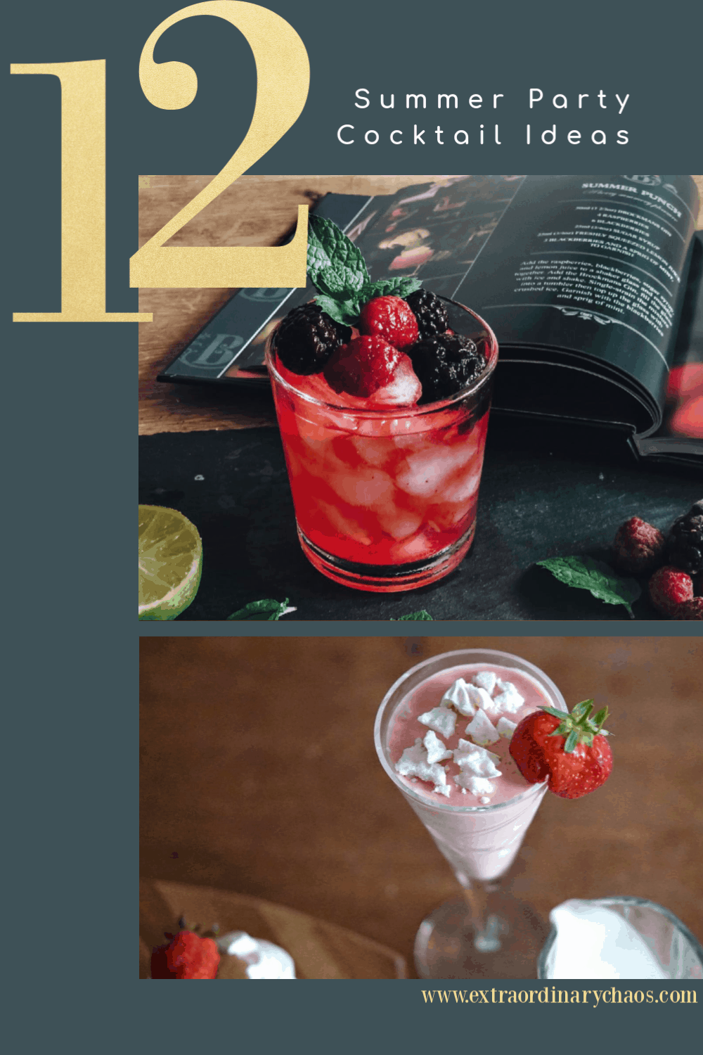 Summer Party Cocktail Ideas to make the best cocktails #cocktailrecipes #cocktails #summercocktails #partyideas