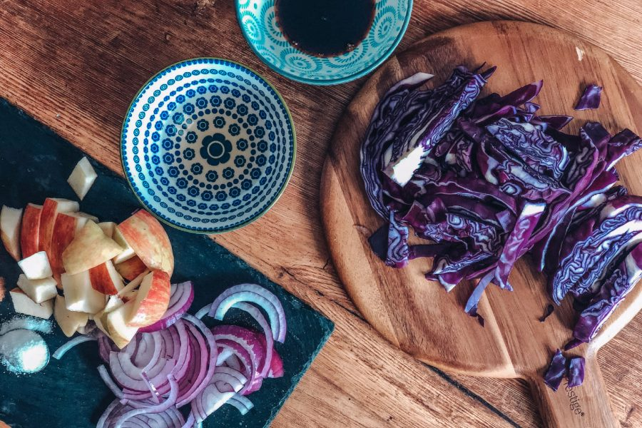 Braised slow cooker red cabbage